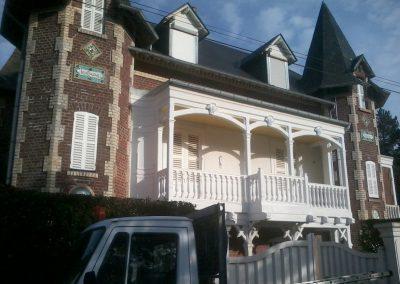 restauration et peinture du balcon